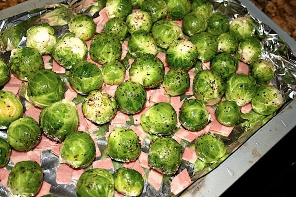 Greg Preps Ina S Roasted Brussels Sprouts As Seen Just Twenty Four Hours Earlier On Her Latest Episode Thanksgiving 2 0 However In True Garten