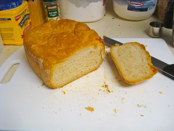 bread machine loaf collapses