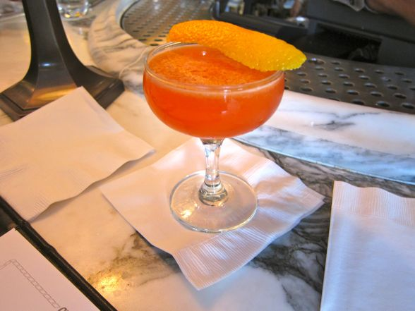 first cocktail. It's called the Intro to Aperol, and it's Aperol ...